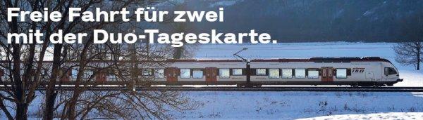 Schweiz:  Duo-Tageskarte der SBB