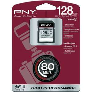 PNY SDXC Karte 128GB High Performance Class 10 UHS-I