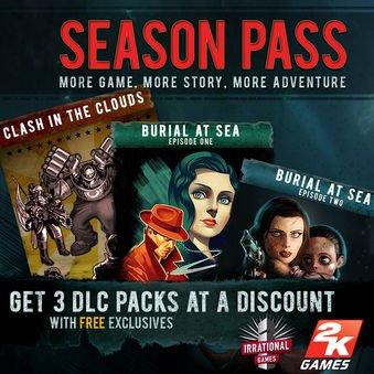 [Steam]BioShock Infinite - Season Pass 6,79€ / $6.79 / £5.43