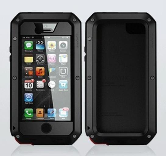 Aluminum Metal Case Cover Gorilla Glass Für iPhone 5 / 5s