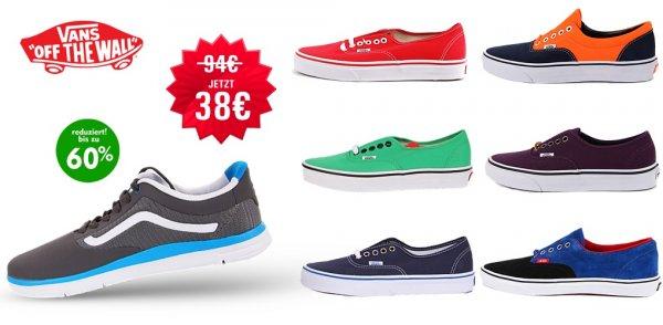 Vans schuhe für 38€ in allen Farben bei Brands Store