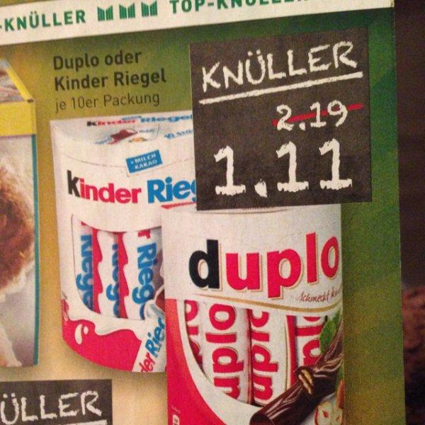 [Marktkauf] Duplo oder Kinder Riegel 10er 1,11€