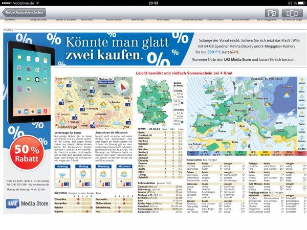 [Lokal Leipzig] iPad 3 (Wifi) 64 GB im LVZ Media Store