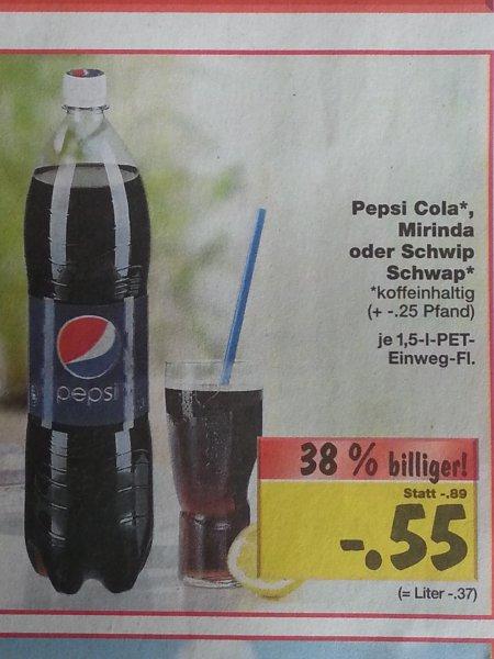 [Kaufland - bundesweit] Pepsi Cola (Klassisch, Light, Light Lemon) für 0,55€ (zzgl. Pfand) - 1,5l PET-Flasche (3.02.14 - 8.02.14)