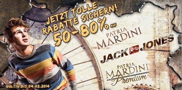 Jack&Jones + Patria Mardini 50-80% bei Hoodboyz Sale