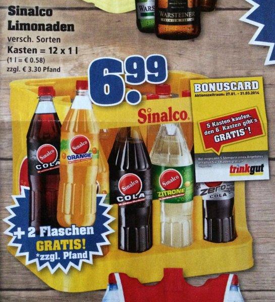[Trinkgut] Sinalco (12 x 1 l), 5 Kästen zahlen, 7 bekommen (03.02. - 08.02.2014) - effekt. 42 Cent / Flasche