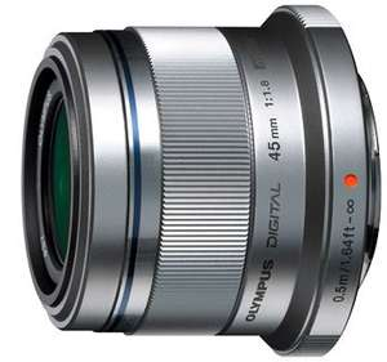 Olympus Zuiko Digital 45 mm Objektiv z B für HD Videoaufnahmen  1:1.8 Micro Four Third