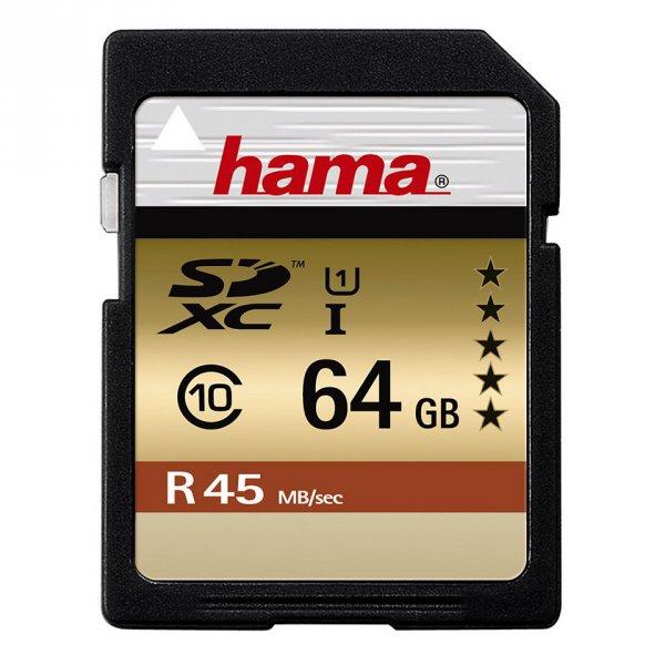 Hama Speicherkarte SDXC 64GB Class 10 UHS-I 45MB/s
