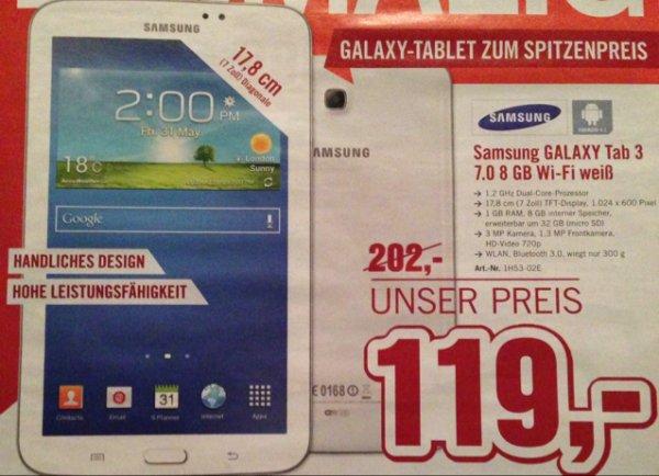 Samsung Galaxy Tab 3 7.0  8gb wi-fi weiß