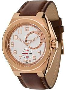 [Amazon] Esprit Herren-Armbanduhr Fine Craft Rose/Brown - wieder für 39,68€