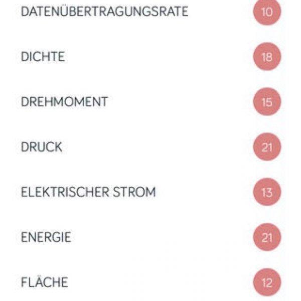 [ios] Amount App - Einheitenumrechner - sonst 0,89€