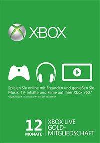 12 Monate Xbox Live Goldmitgliedschaft (ab 8,33€ - 33,33€)