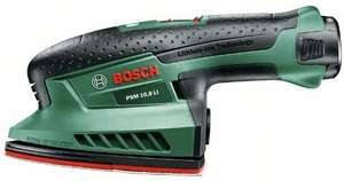 "[Amazon Blitzangebot] Bosch PSM 10,8 LI Akku-Multischleifer ""Easy"" + 3 Schleifblätter + 2 Akkus und Ladegerät,(statt 119,90€)"