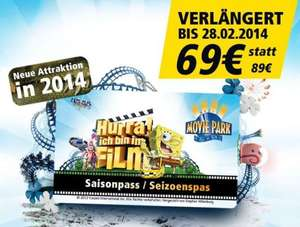 Movie Park Saisonpass 2014, inkl. freier Eintritt in andere Parks z.B. Efteling UPDATE: ab 55 €