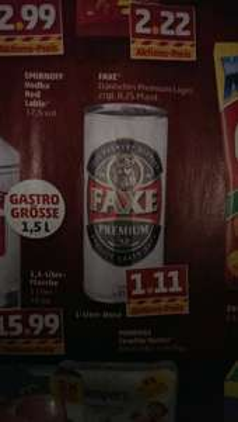 Faxe Bier 1-Liter-Dose bei Penny für 1,11€