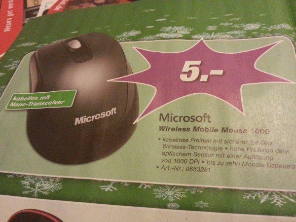 [Lokal] Microsoft Wireless Mobile Mouse 1000 [EP Dölger 63927 Bürgstadt]