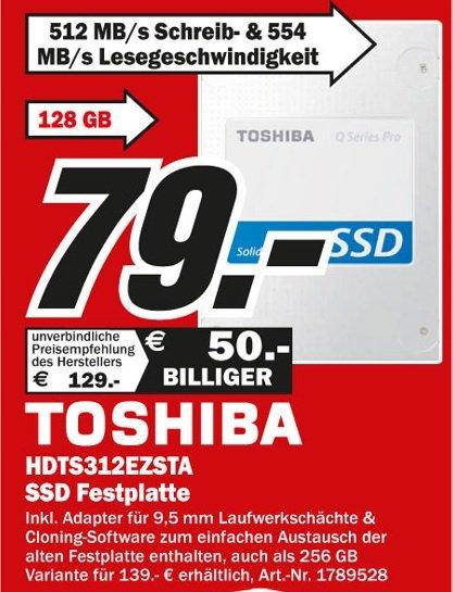 Toshiba HDTS312EZSTA - 128GB SSD Q SERIES PRO SATA III Lokal [Mediamarkt Mönchengladbach]