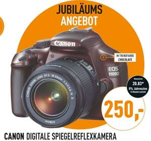 Canon EOS 1100D Kit 18-55 mm IS II 250€ + 4,99€ VSK @Berlet