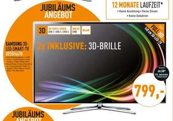 Samsung UE55F6470 für 799€ + ggf 40€ VSK @Berlet