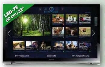 Fernseher: Samsung UE32F4570 LED TV mit HD triple Tuner, 100Hz, Energieklasse A+, bei Expert