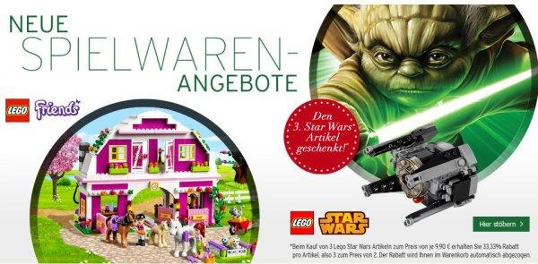 Karstadt online: Spielwarenangebot - Lego 3 für 2!