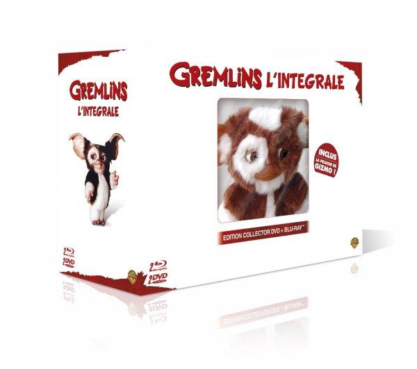 Gremlins 1 + 2 [Blu-ray] + Gizmo Plüschtier für 26€ @Amazon.fr