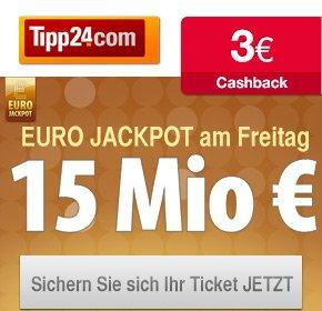 3 Euro Cashback für Tipp24 Neukunden über Qipu