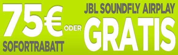 75 Euro Rabatt oder JBL Soundfly Airplay in Wert von 199 Euro beim kauf eines Apple Gerät @mactrade.de