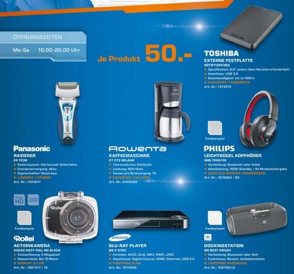 Toshiba Stor.e Basics 1TB 50€, Rollei Racy FullHD 50€ Lokal [Saturn Solingen]