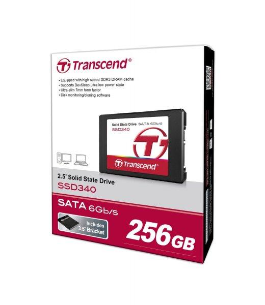 """Transcend™ - 2.5"""" Solid State Drive """"SSD340"""" (256GB,SATA III) für €109,90 [@Amazon.de]"""