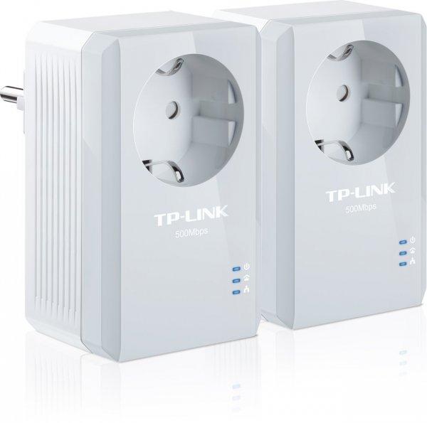 "TP-Link™ - 2er-Set Powerline-Netzwerkadapter ""TL-PA4010PKIT"" (500Mbps,integrierte Steckdose) für €29,90 [@Amazon.de]"