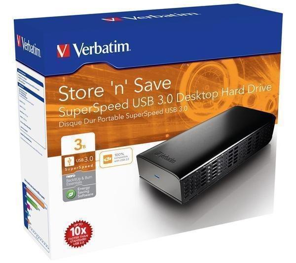 VERBATIM Store 'n' Save SuperSpeed USB 3.0 Externe Festplatte 3TB für 89,90€