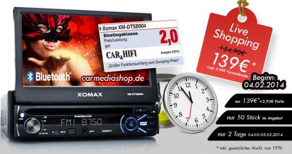 LiveShopping Deal: DVD Autoradio (XOMAX DTSB904 ) mit Monitor, usb, sd usw.