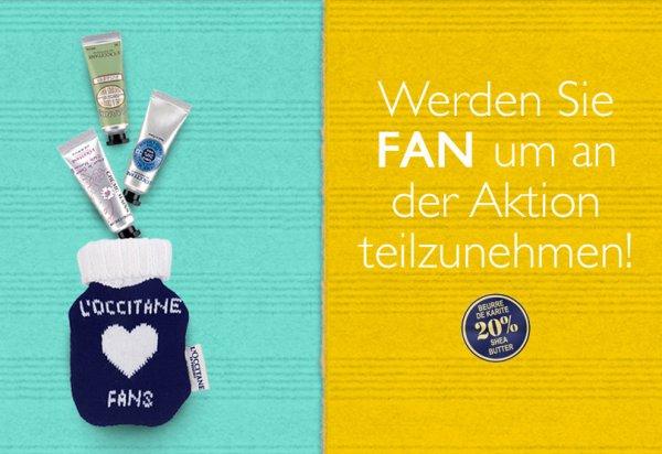 3 L´Occitane Handcremes im Fan Täschchen GRATIS @FB