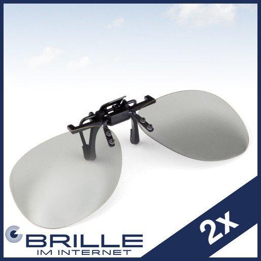 Zwei passive 3D Clips für Brillenträger für  9,99 @ eBay
