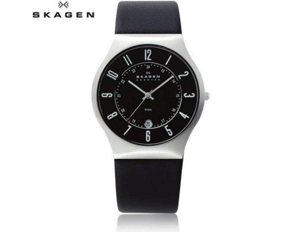 [Amazon.uk] Skagen Herren-Armbanduhr XL Analog Quarz Leder 233XXLSLB für ca. 54 € inkl. Vsk