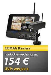 COMAG Digitales Kamera  Funk-Überwachungs-Set - 7 Zoll TFT - 30 Bps - USB 2.0