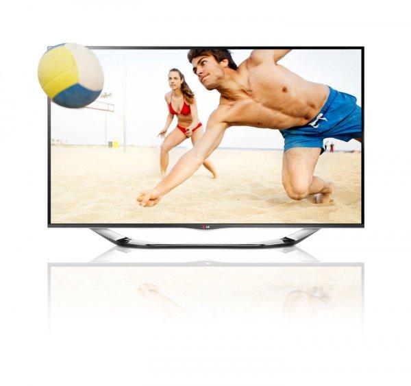 LG 55LA6918 139 cm (55 Zoll) Cinema 3D LED-Backlight-Fernseher, EEK A+ (Full HD, 400Hz MCI, WLAN, DVB-T/C/S, Smart TV) silber inkl. 3D Camcorder  949,00€