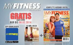 GRATIS: My Fitness Magazin + 60min Musik (iOS/Android - Ersparnis: 13,86€)