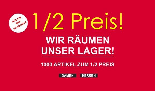 1000 Artikel zum 1/2 Preis bei @brands-store.de