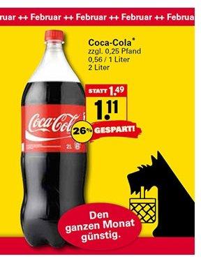 Coca-Cola 2L Flasche bei Netto mit Hund im Februar 1,11 = 0,56 für 1l !