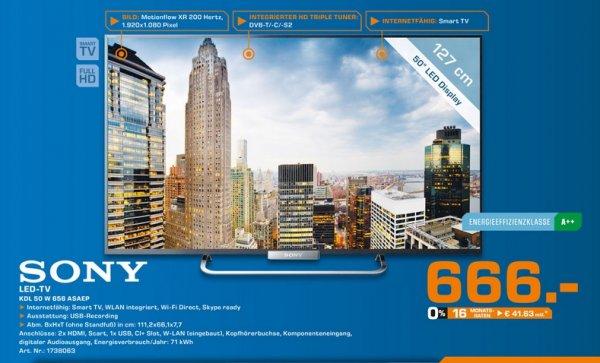 Sony KDL-50W656ASAEP für 666€ Lokal [Saturn Köln] TAGESANGEBOTE!