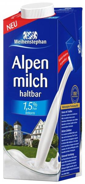 [Metro Weiterstadt (evtl. andere)] Weihenstephan H-Alpenmilch 1,5% für 0,66 Euro/Packung