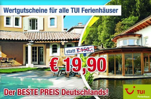 Günstig europaweit übernachten mit Ab-in-den-Urlaub.de und TUI-Ferienhäusern von 25.06. - 03.09.2011 und 23.12.2011 - 18.02.2012