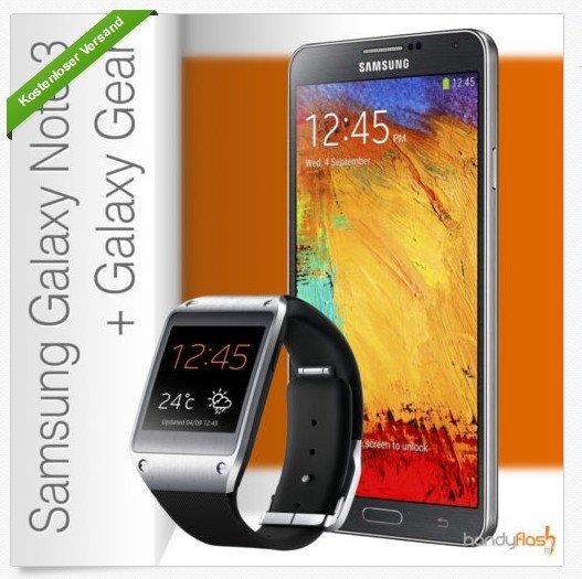 Samsung Galaxy Gear V700 + Note 3 N9005 mit  Base all-in Plus Vertrag ab 36€ mtl ( Allnetflat, 2GB Internet, MTV Flat etc..)