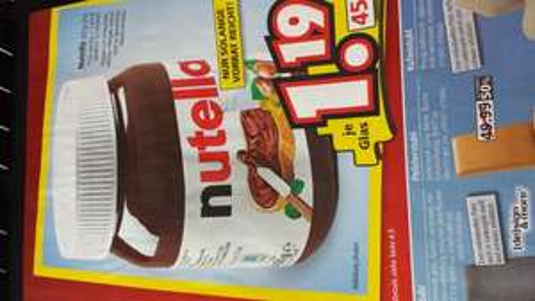 Nutella 450g glas bei Segmüller