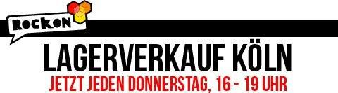 [50823 Köln] Rockon Lagerverkauf Hammer Preise alle T Shirts 2€, alle Hoodies 10€, … 16-19 Uhr