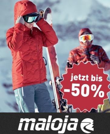 MALOJA 2013 Summer und 2013 Winterkollektion 27% bis 50% Rabatt Jacken, Hosen, Sweats, Mützen...
