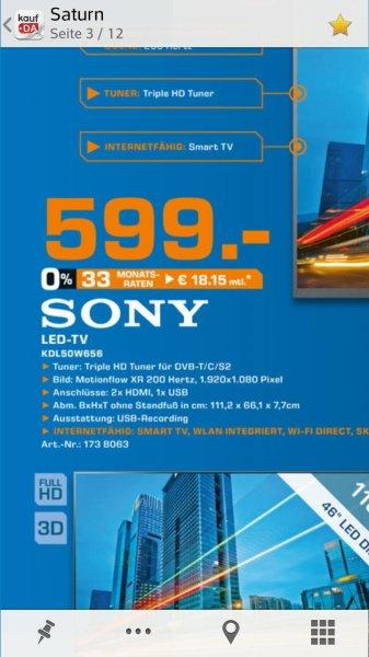 Sony 50W656 für nur 599 im Saturn Prospekt BB (Bundesweit?)