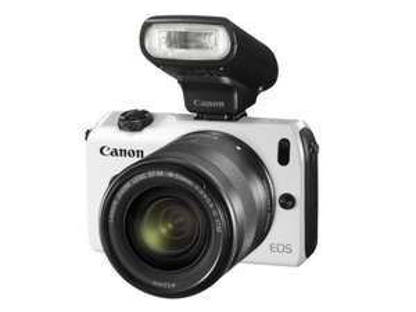 """Canon EOS M + 18-55IS STM + Speedlite 90EX Kit in Weiß : 28% zu idealo!!! (WHD - """"wie neu"""")"""
